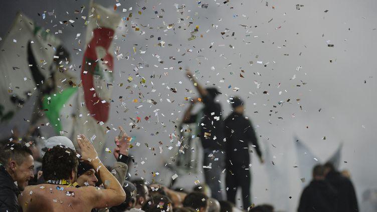Les supporters sont allés un peu trop loin lors du derby rhônalpin. (JEFF PACHOUD / AFP)