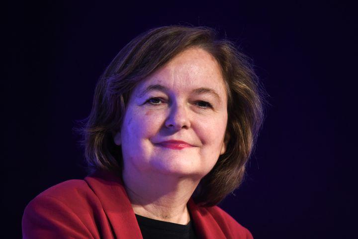 Nathalie Loiseau, tête de liste La République en marche, le 25 avril 2019 à Paris. (ERIC PIERMONT / AFP)