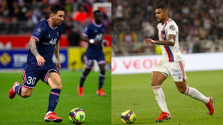 Le PSG de Leo Messi et l'Olympique Lyonnais d'Emerson s'affrontent dans le choc de la 6e journée de Ligue 1. (Franck Fife / Romain Briard / AFP)