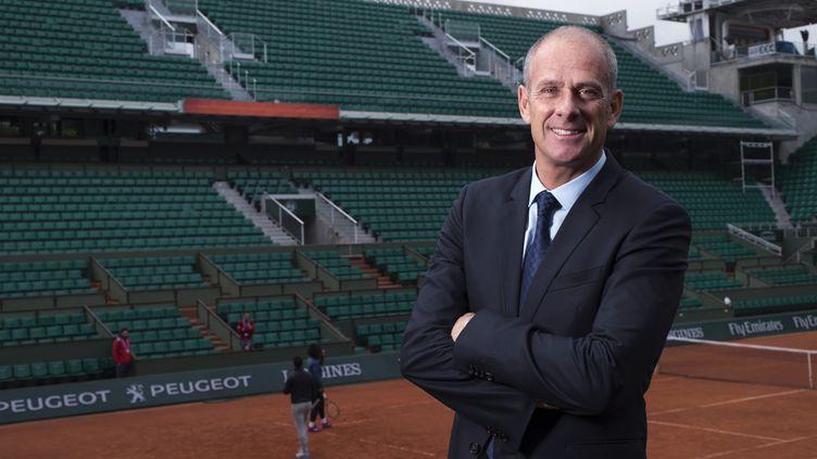 Guy Forget le patron de Roland-Garros espère un toit en 2020 (MIGUEL MEDINA / AFP)