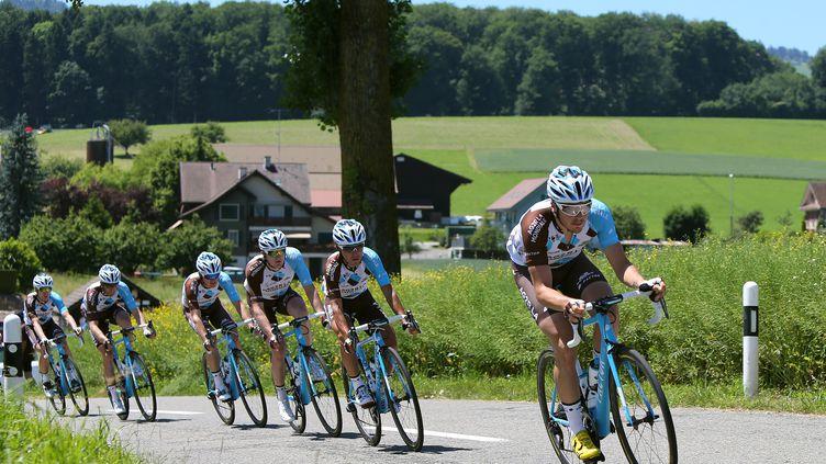 L'équipe AG2R-La Mondiale en formation sur le Dauphiné (DE WAELE TIM / TDWSPORT SARL)