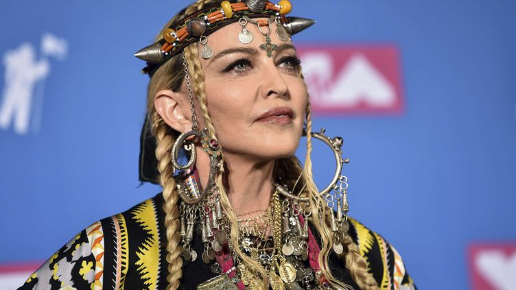 Madonna aux MTV Video Music Awards à New York le 20 août 2018 (EVAN AGOSTINI/AP/SIPA / AP)