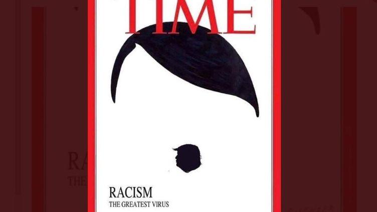 """Une fausse couverture du magazine américain """"Time"""", le 30 mai 2020. (TWITTER)"""