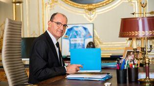 Le Premier ministre Jean Castex le 3 août 2020 dans son bureau de l'Hôtel Matignon à Paris. (MARTIN BUREAU / AFP)