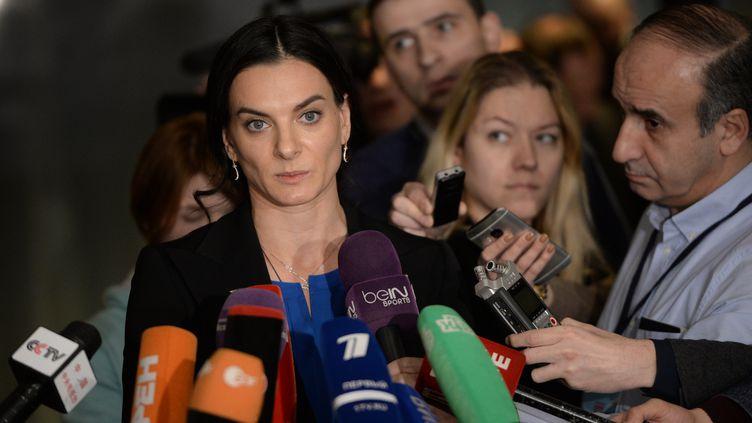 La perchiste russe Yelena Isinbayeva (ALEXEY FILIPPOV / SPUTNIK)