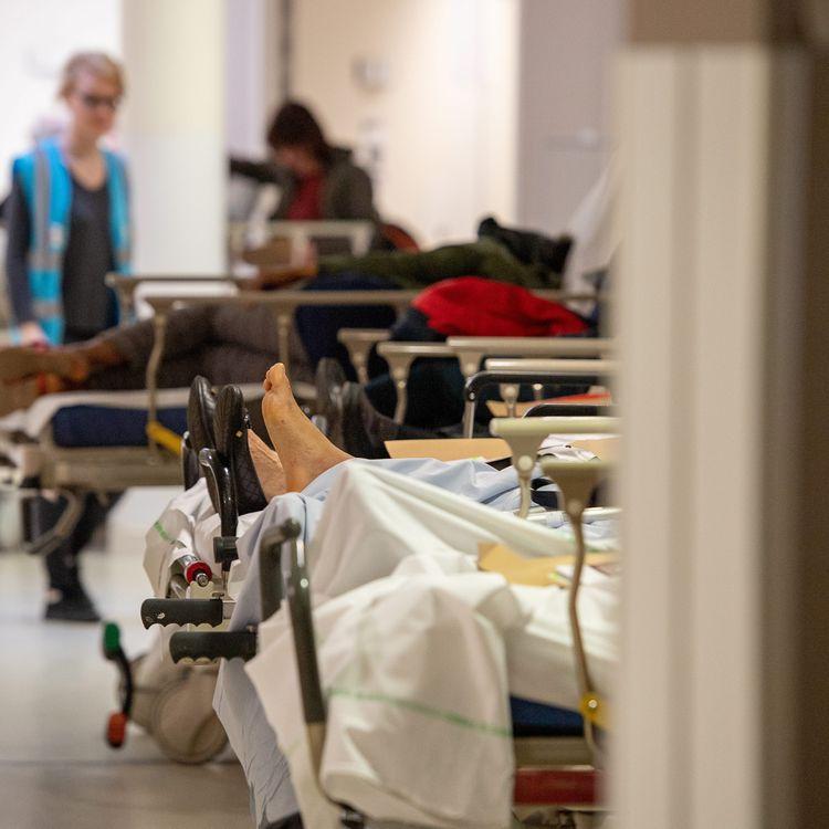 L'unité des urgences du CHU de Lille (Nord), le 29 mars 2019. (MAXPPP)