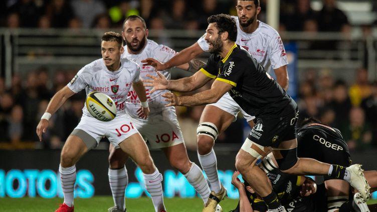 Kevin Gourdon a été déterminant face à Toulon, dimanche 24 octobre. (XAVIER LEOTY / AFP)