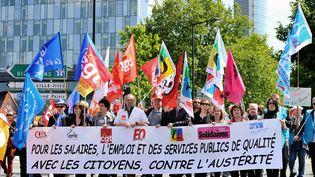 Les fonctionnaires avaient déjà manifesté en 2014, ici à Lille (Nord), avec des revendications identiques. (PHILIPPE HUGUEN / AFP)