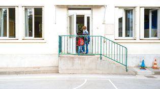 France, Montauban, 2021-09-02. Rentree des classes a l ecole Marcel Guerret a Montauban. Jour de rentree scolaire en Tarn-et-Garonne comme partout en France. Photographie de Patricia Huchot-Boissier / Hans Lucas. (PATRICIA HUCHOT-BOISSIER / HANS LUCAS)