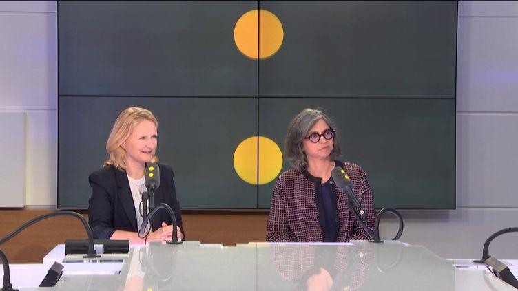 Anne-Laure Vial (à g.) et Delphine Bouetard, le 12 octobre 2018. (RADIO FRANCE / FRANCEINFO)
