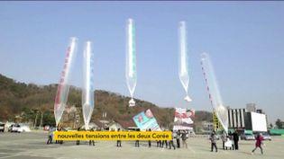 Ces lâchers de ballaons sud-coréens ne plaisent pas à la Corée du Nord (FRANCEINFO)