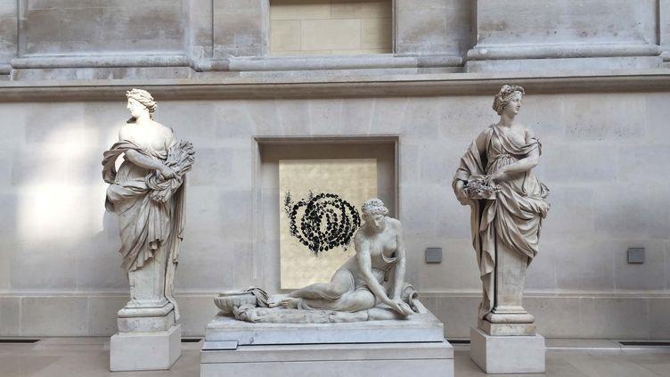 Jean-Michel Othoniel, La Rose du Louvre, 2019. Simulation de l'installation en cour Puget, au Louvre (-)