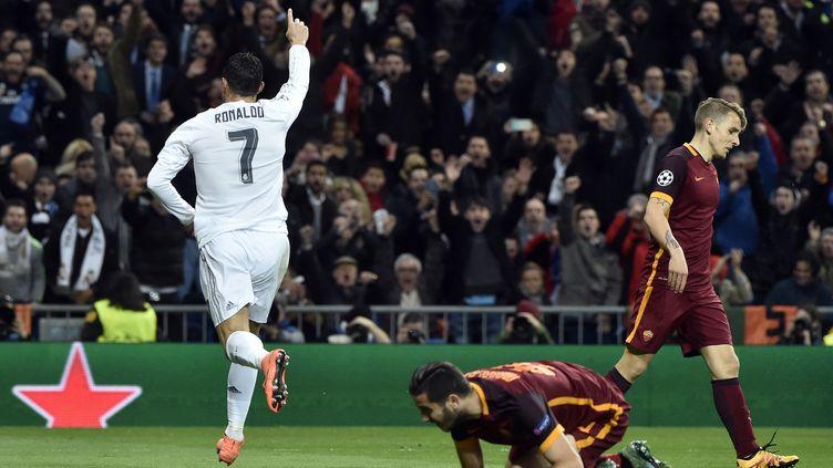 Ronaldo a délivré le Real Madrid face à la Roma (GERARD JULIEN / AFP)