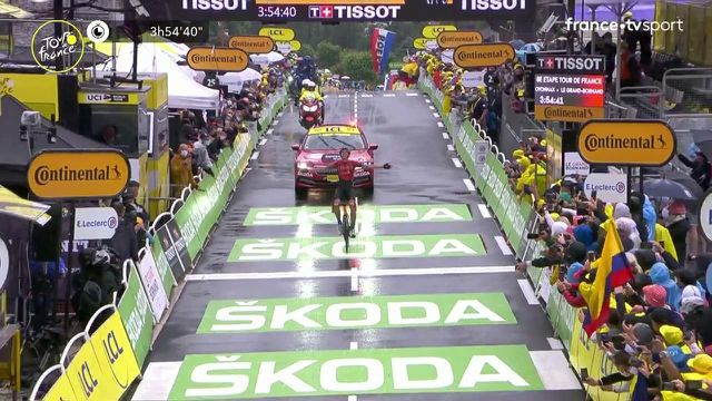 Dylan Teuns remporte la 2e victoire de sa carrière sur le Tour de France. Le Belge a su se défaire de Michael Woods dans le Col de la Colombière avant de résister au retour de Tadej Pogacar dans la descente. Ion Izagguire et Michael Woods complètent le podium.