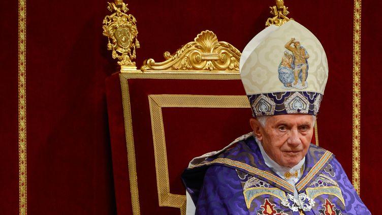Benoît XVI, à Rome (Italie), le 1er décembre 2012. (ANDREAS SOLARO / AFP)