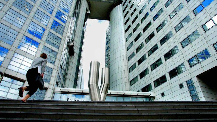 Le siège de la Cour pénale internationale à La Haye(Pays-Bas), le 1er juillet 2002. (ROBIN UTRECHT / ANP / AFP)