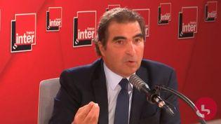Christian Jacob, président du parti Les Républicains, était l'invité de France Inter mercredi 22 septembre 2021. (CAPTURE D'ECRAN DAILYMOTION)