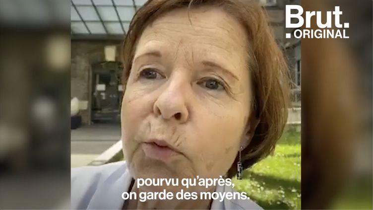 """VIDEO. Hôpital public français : """"Pourvu qu'après, on garde des moyens"""", souffle Agnès Hartemann (BRUT)"""