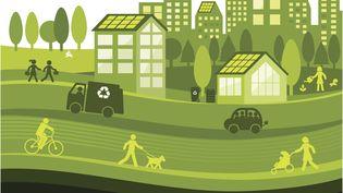 La crise sanitaire aidant, allons-nous mettre en place demultiples solutions pour réduire l'impact environnemental, avec de l'énergie décarbonée et stockée à bord des véhicules. (Illustration) (SI-GAL / DIGITAL VISION VECTORS / GETTY IMAGES)