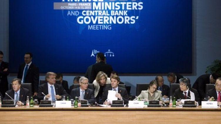 François Baroin, ministre des Finances, s'apprête à ouvrir la deuxième journée du G20 ce samedi 15 octobre à Paris. (FRED DUFOUR / POOL / AFP)