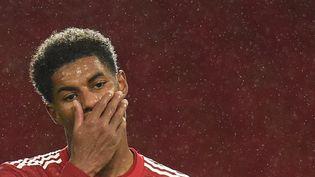 Marcus Rashford, footballeur dans l'équipe du Manchester United en Grande Bretagne. (OLI SCARFF / POOL)