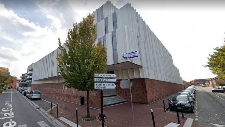 Capture d'écran de l'hôtel de police situéAvenue de la fin de la guerre, dans le centre de Tourcoing (Nord). (GOOGLE MAPS)