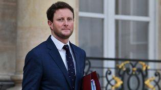 Le secrétaire d'Etat aux Affaires européennes, Clément Beaune, le 7 octobre 2021 à l'Elysée, à Paris. (DANIEL PIER / NURPHOTO / AFP)
