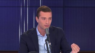 Jordan Bardella, eurodéputé et vice-président du Rassemblement national, invité de franceinfo jeudi 24 septembre 2020.  (FRANCEINFO / RADIOFRANCE)