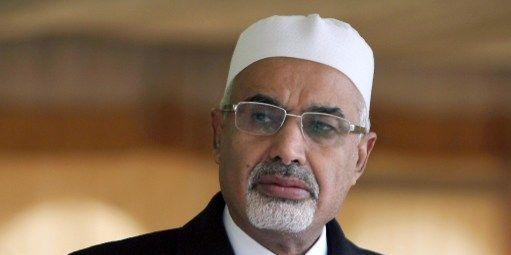 Mohamed al-Megaryef, président démissionnaire de l'Assemblée libyenne, le 17 février 2013 (AFP/Abdoullah Douma)