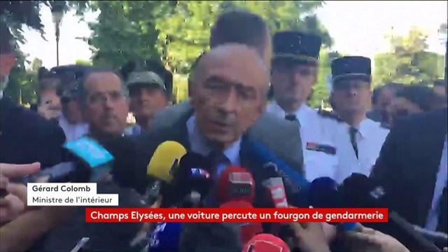 """Champs Elysées : """"Le conducteur est décédé"""" point de presse de Gérard Collomb, ministre de l'Intérieur"""