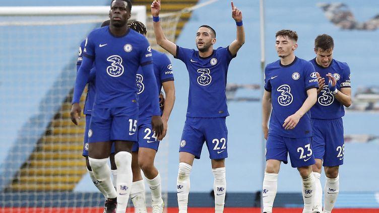 Les joueurs de Chelsea face à Manchester City (MARTIN RICKETT / POOL)