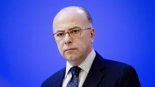 Le ministre de l'Intérieur Bernard Cazeneuve le 22 mars 2016 lors duComité de pilotage sur la sécurité de l'Euro 2016. (MAXPPP)