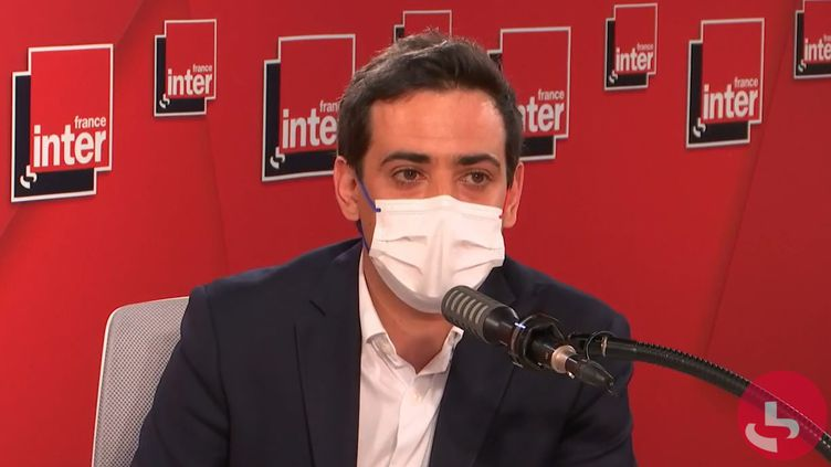 Stéphane Séjourné,député européen LREM et conseiller du président de la République, le 2 juin sur France Inter. (FRANCEINTER / RADIOFRANCE)
