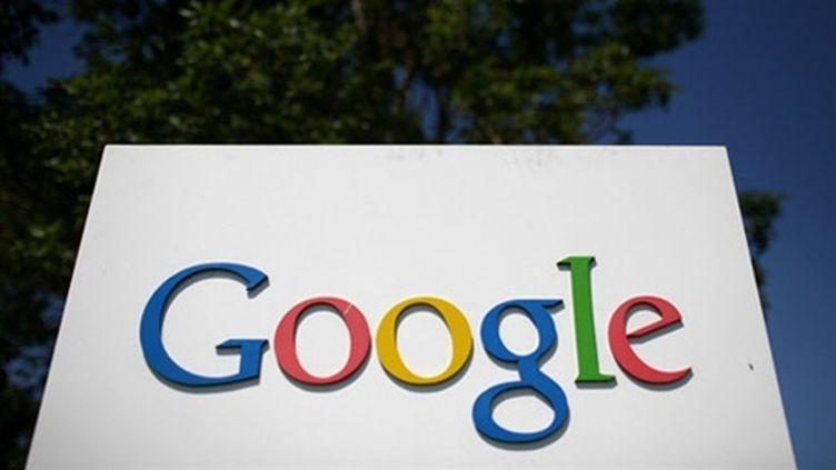 Devant les quartiers de Google, en Californie. (AFP/Justin Sullivan)