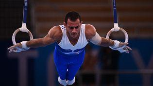 Le gymnaste Samir Aït Saïd, 4e de la finale des anneaux aux Jeux olympiques de Tokyo. (LOIC VENANCE / AFP)
