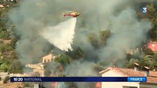 Dans les Alpes-Maritimes, au nord de Nice, un incendie a démarré ce lundi 17 juillet, dans l'après-midi. (FRANCE 3)