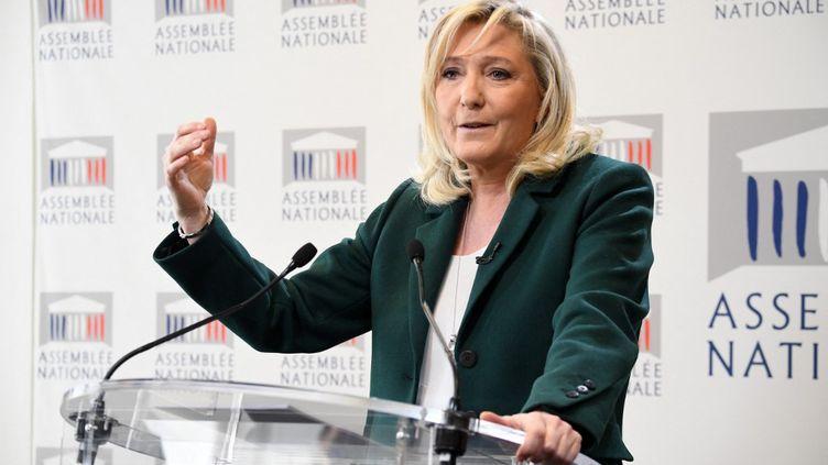 Marine Le Pen, le 9 mars 2021, àParis. (ALAIN JOCARD / AFP)