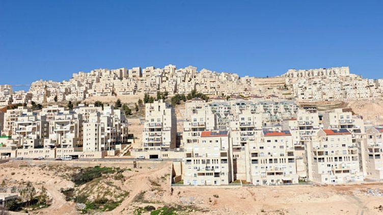 (Har Homa, enclave israélienne en territoire palestinien. C'est pour avoir fourni des services dans les colonies qu'Orange est dans le viseur des ONG © maxppp)