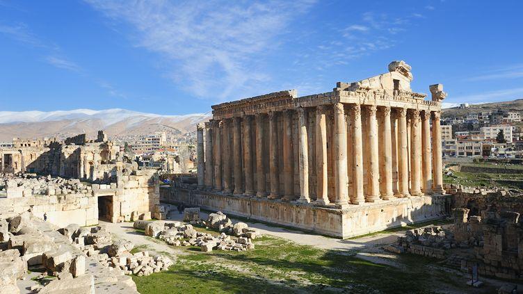 Le temple de Bacchus, classé au patrimoine mondial de l'Unesco, dans la plaine de la Bekaa, au Liban. Deux Allemands ont été enlevés le 1er novembre dans cette région. (YANNICK LE GAL / ONLY WORLD / AFP)