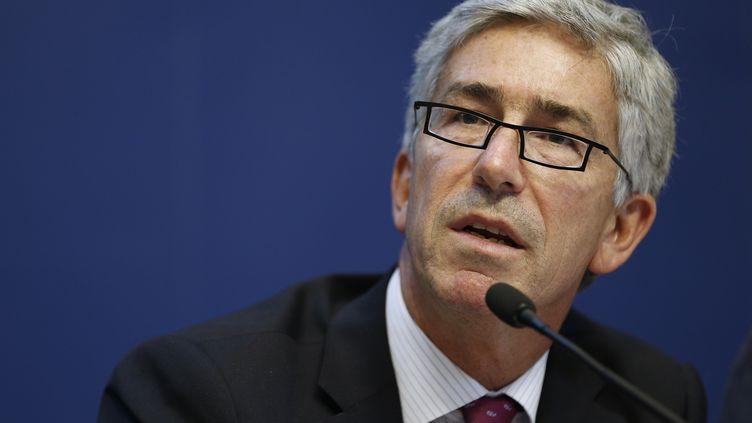 Benoit Vallet, directeur général de la santé, lors d'une conférence de presse en octobre 2014. (FRANCOIS GUILLOT / AFP)
