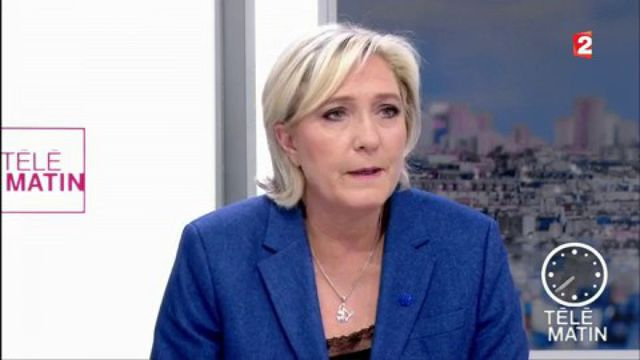 """Frappe américaine en Syrie : Marine Le Pen se dit """"un peu étonnée"""""""