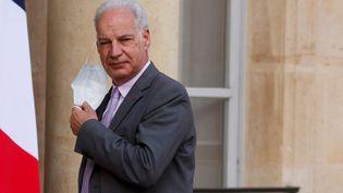 Leministre délégué aux Petites et moyennes entreprises Alain Griset à l'Élysée à Paris, en avril 2021. (LUDOVIC MARIN / AFP)