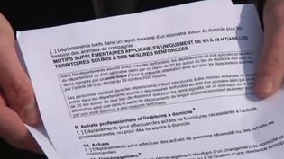 Reconfinement de 16 départements  : le couac de la nouvelle attestation de déplacement  (France 2)