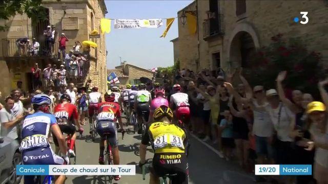 Tour de France et canicule : les spectateurs bravent le soleil