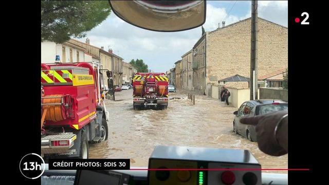 Inondations dans le Gard : les pompiers ont sauvé plus d'une centaine de personnes dans des conditions extrêmes