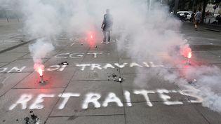 Manifestation contre la loi travail à Bordeaux le 9 juin 2016. (NICOLAS TUCAT / AFP)