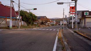 Une rue de Kawamata (Japon), un village près de Fukushima, le 1er novembre 2011. (EYEPRESS NEWS / AFP)