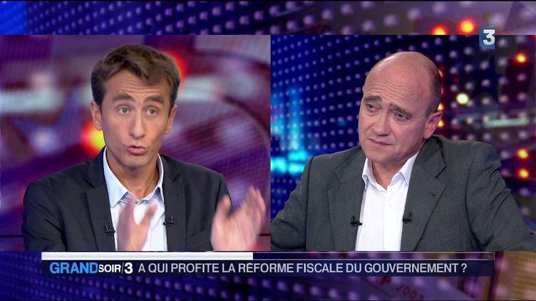 L journaliste Etienne Lefebvre et l'économiste Christophe Ramaux (France 3)