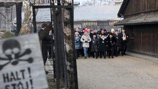 Les commémorations des 75 ans de la libération du camp nazi d'Auschwitz-Birkenau, le 27 janvier 2020 (ANDRZEJ GRYGIEL / EPA / NEWSCOM / MAXPPP)