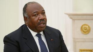 Ali Bongo, le président du Gabon, le 14 juillet 2018. (SERGEY MAMONTOV / AFP)